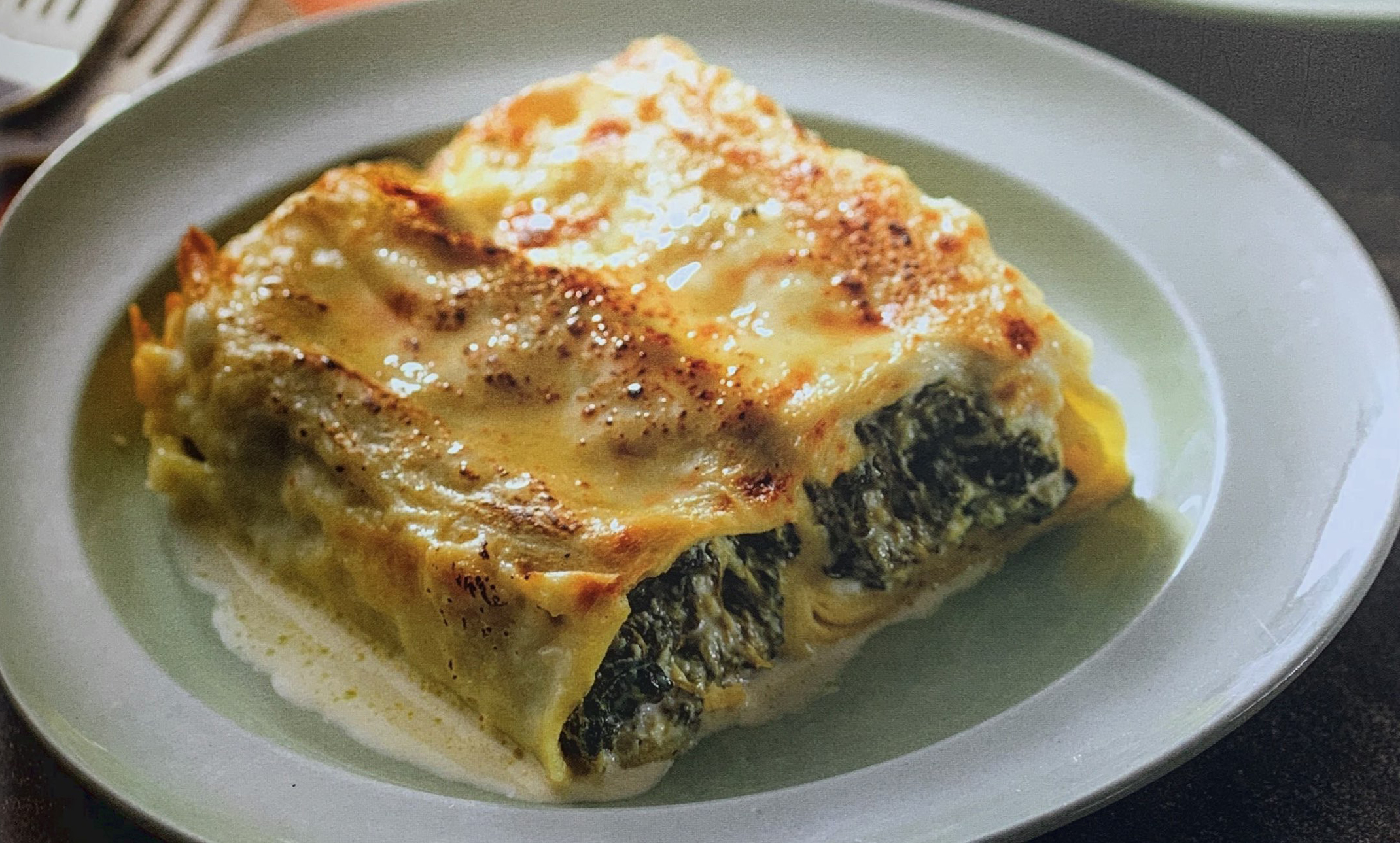 Thermomix cannelloni met spinazie en ricotta