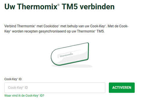 Cook-key verbinden en activeren