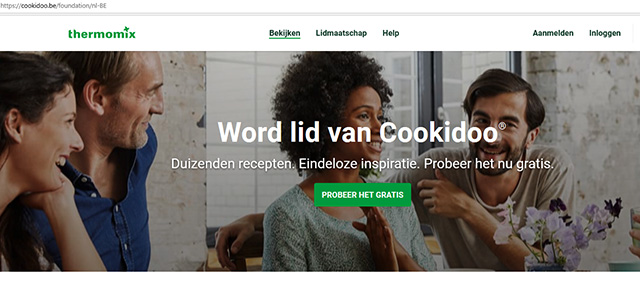 Thermomix cook-key registreren