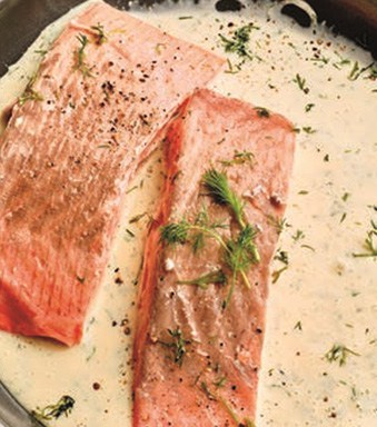 Thermomix zalm met romige dillesaus